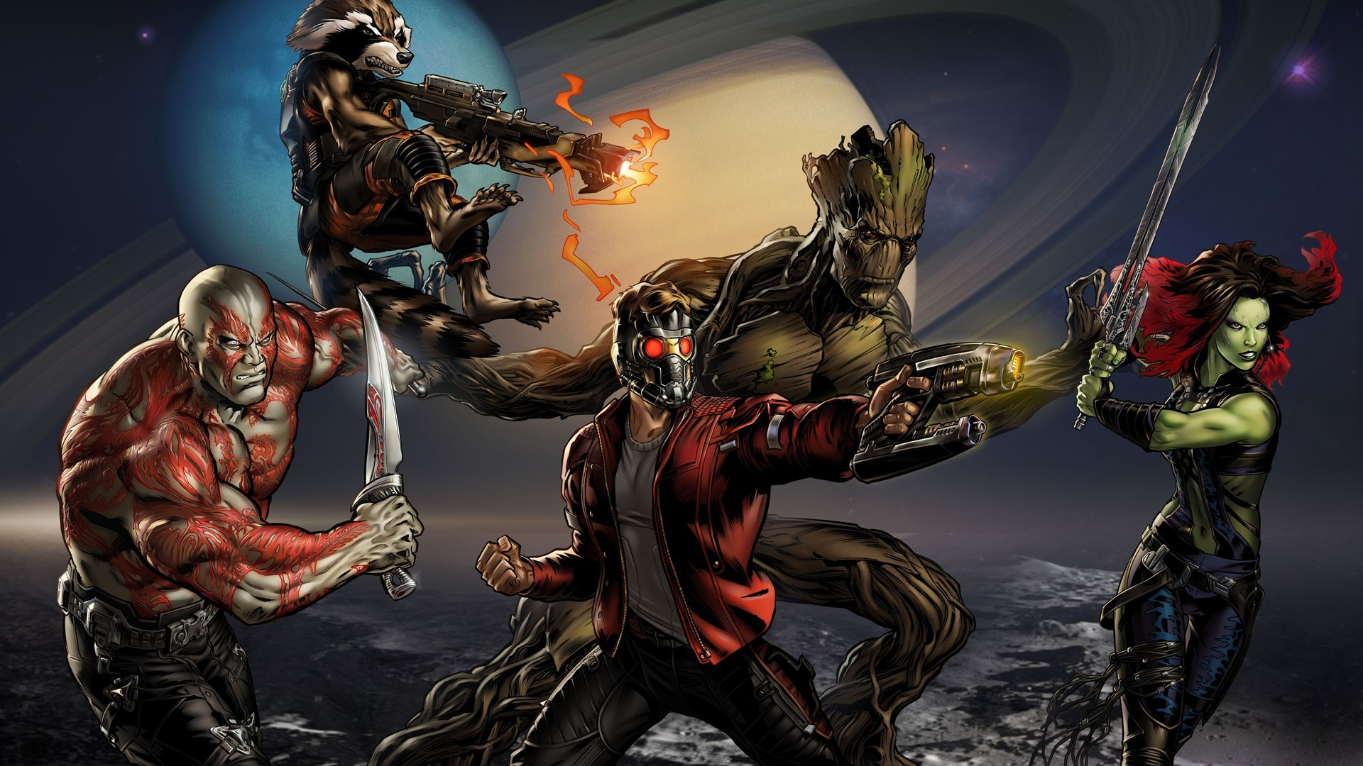 Guardians of the Galaxy Comic Banner