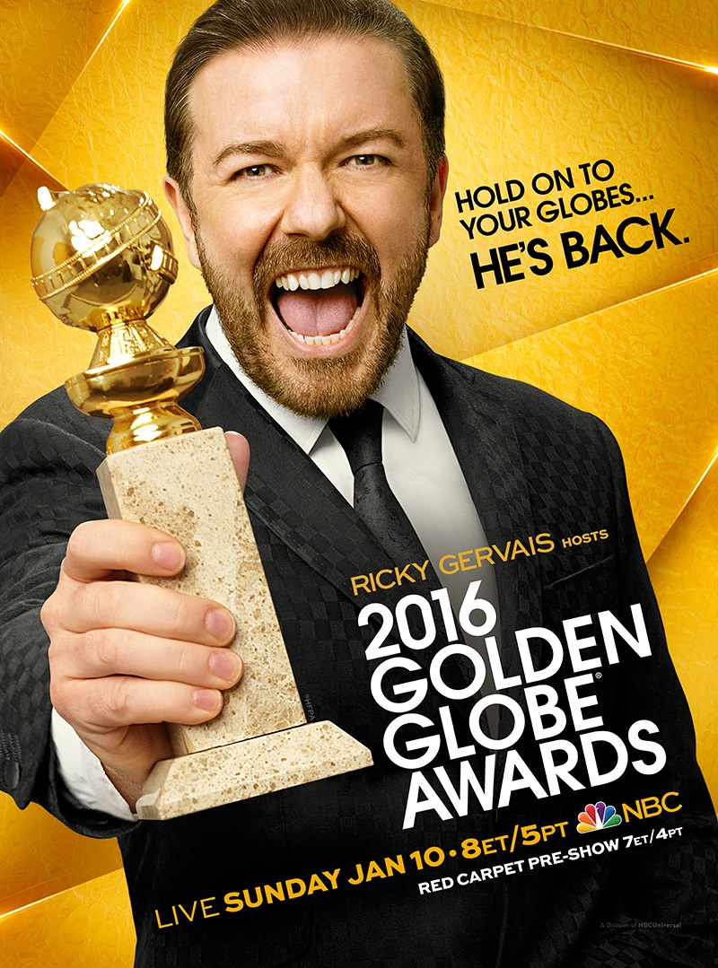 Ricky Gervais Golden Globes Poster